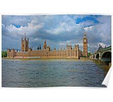 Golden Westminster on Riverside, London Poster