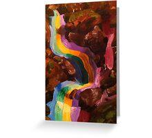 Rainbow water fall Greeting Card