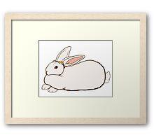 Goggles Bunny Framed Print