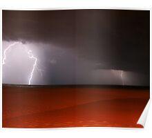 Lightning Over Lake Michigan Poster