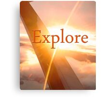 Explore! Discover! Canvas Print