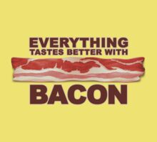 Everything Tastes Better With Bacon  Kids Tee