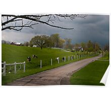 Spring in Amish Country. Poster