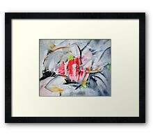 Red Cave Framed Print