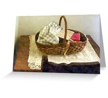 Basket of Cloth and Measuring Tape Greeting Card