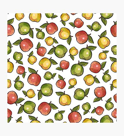 Three apples Photographic Print