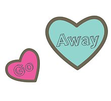 Go Away Hearts Design by SailorMeg
