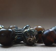 Rustic vintage beaded necklace by SunshineSong