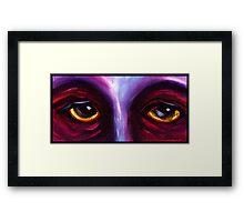 Purple Eyes Framed Print