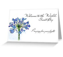 Welcome to the World, Sweet Boy - NICU baby Greeting Card
