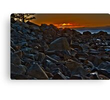 White Point Rocks (HDR) Canvas Print