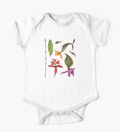 Orchids and Ink (Flowers)  One Piece - Short Sleeve