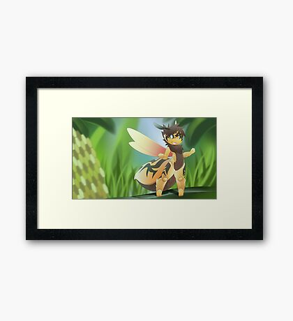bee wallpaper Framed Print