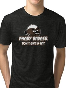 Angry Badger Tri-blend T-Shirt