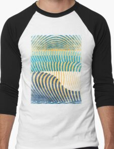 waves Men's Baseball ¾ T-Shirt