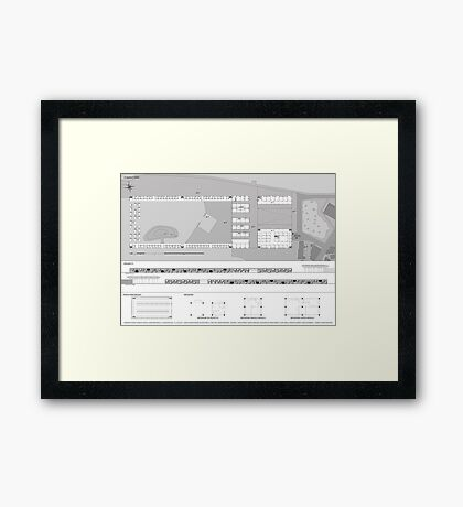 attack of the ground Framed Print