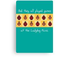 Ladybug Picnic Canvas Print