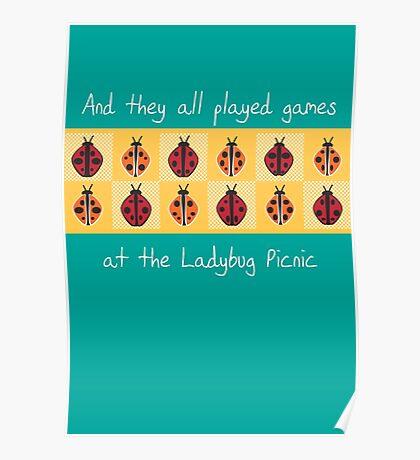 Ladybug Picnic Poster