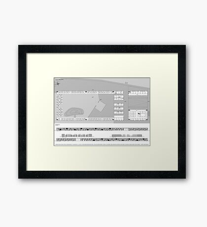 ground and facades Framed Print