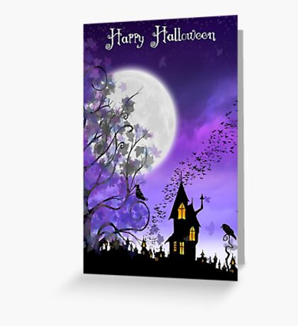 Happy Halloween Card ~ Halloween Night on Eartheeria Greeting Card