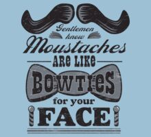 Moustaches: Bowties for Your Face (Black Type) by AndreeDesign
