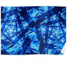 Blue Cylinder Shimmer  Poster