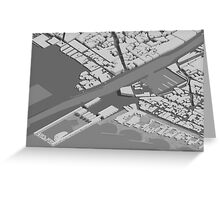 isometric view Greeting Card