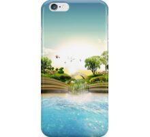 Storybook Landscape Ocean Scene iPhone Case/Skin