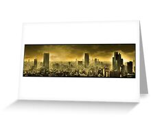 Nuclear city, Apocalypse Greeting Card