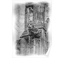 Gargoyle Sketch Poster