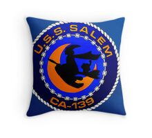 USS Salem Throw Pillow