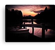 Loch Ard, Spring Sunset. Canvas Print