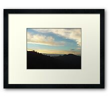 Layer Of Clouds Over The Mountain Framed Print