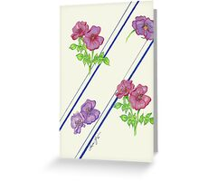 Flowers and Stripes Greeting Card
