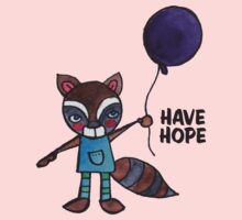 Have Hope: Cute Raccoon Drawing Watercolor Illustration Kids Clothes