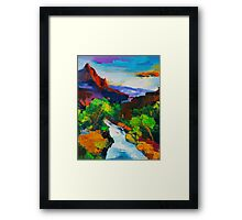 ZION - The Watchman and the Virgin River Framed Print