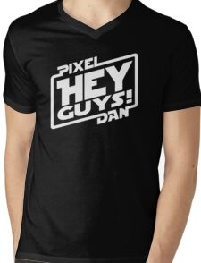 """Hey Guys!"" Logo Mens V-Neck T-Shirt"