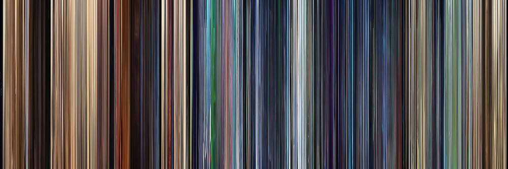 Moviebarcode: WALL·E (2008) by moviebarcode