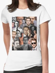 Ryan Gosling Collage Womens Fitted T-Shirt
