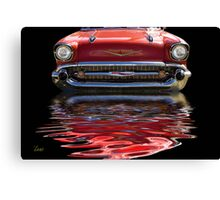 57 Red Chevy Canvas Print