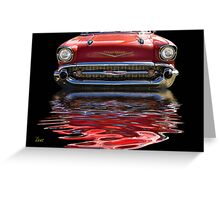 57 Red Chevy Greeting Card