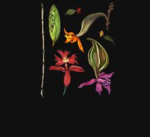 Orchids and Ink on Black Women's Fitted Scoop T-Shirt