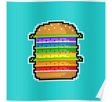 Pixel Hamburger Poster