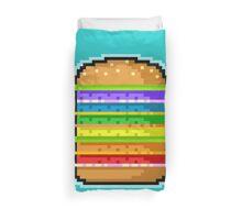 Pixel Hamburger Duvet Cover