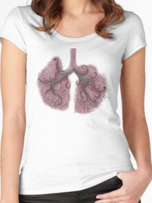 Lungs Women's Fitted Scoop T-Shirt