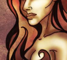 Rose Red Curls Sticker