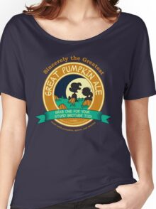 Great Pumpkin Ale Linus and Lucy Women's Relaxed Fit T-Shirt