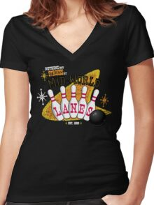 Nothing But Strikes Women's Fitted V-Neck T-Shirt