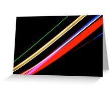 Neon Stripes Greeting Card
