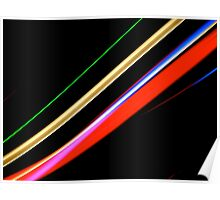 Neon Stripes Poster